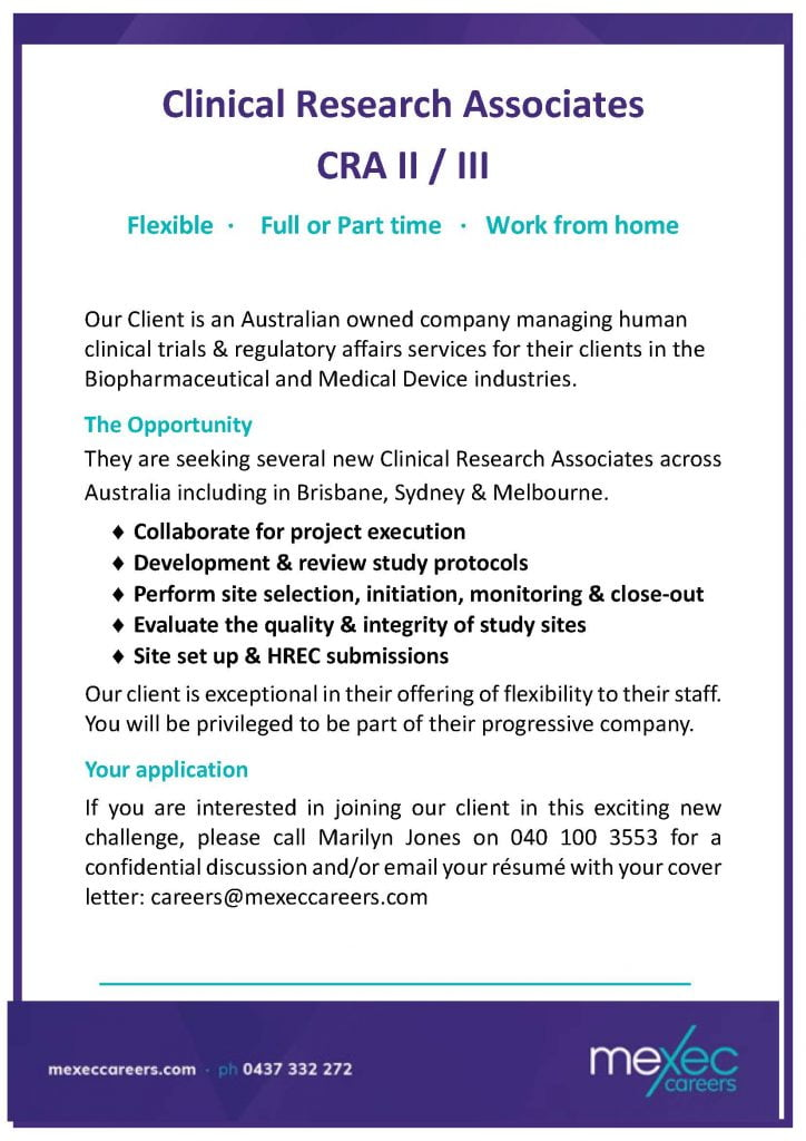 Clinical Research Associates II/III